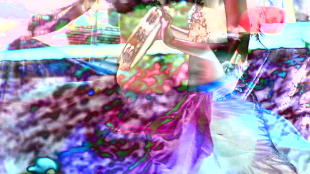 HD 1080i Abstract Composite of Gypsy Dancing video