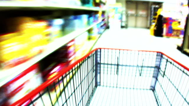 HD 1080i Blurred Motion Grocery Cart 3 video