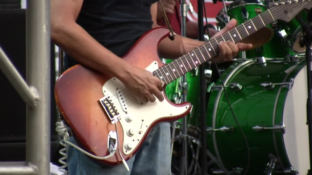 HD 1080i Electric Guitar Player Outdoor Concert Austin Texas 8 video
