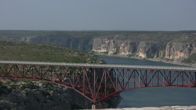 HD 1080i Truck going over Texas bridge video