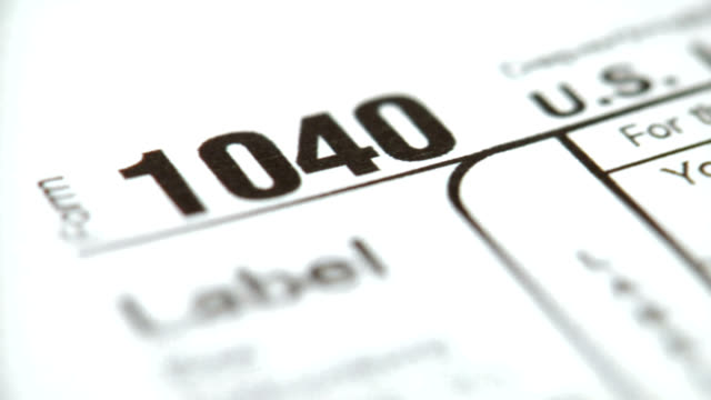 HD 1080p 1040 Tax Form video