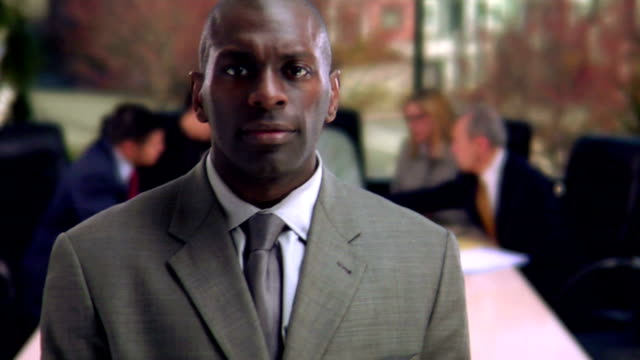 HD 1080p - African American Businessman at Head of Table video