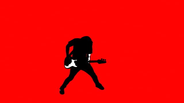 HD 1080p - Guitar Flip on Red video