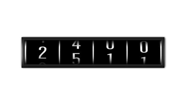 1080 p loopable numeri contare su sfondo bianco - numero video stock e b–roll