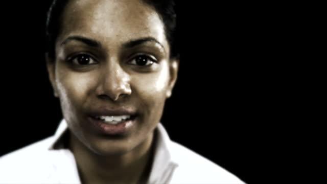 HD 1080p - Woman wiping away sweat video