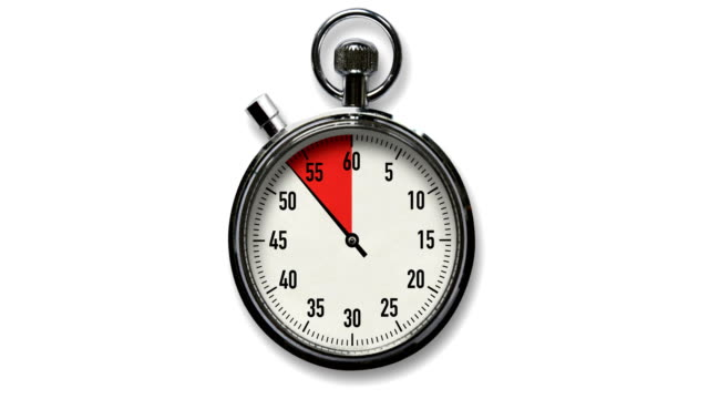 10-Second Stopwatch Countdown on White