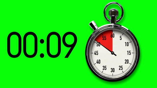 10-Second Stopwatch Countdown with Chroma Key Background