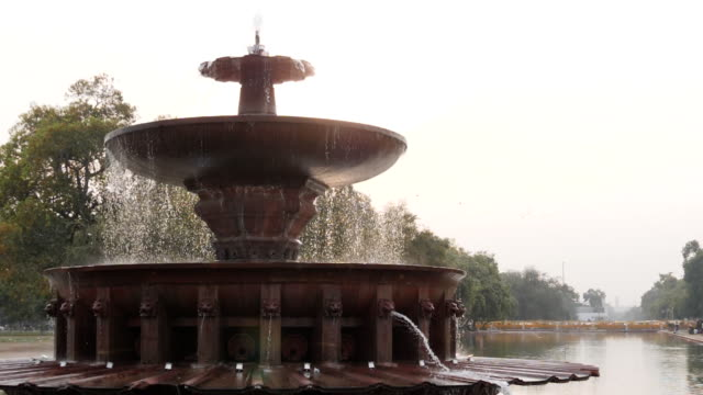 180p slow motion clip of a fountain near india gate in new delhi 180p slow motion clip of a back lit fountain near india gate in new delhi in india victorian architecture stock videos & royalty-free footage