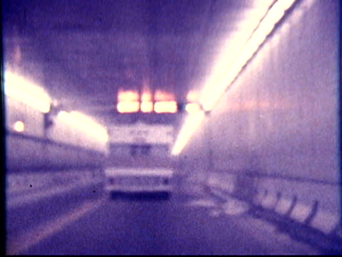 1970s North America: Camper, Caravan, RV through tunnel (8mm film) video