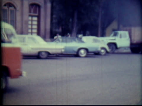 1970s north america: small town people, cars (8mm film camera) - canada travel stock videos and b-roll footage