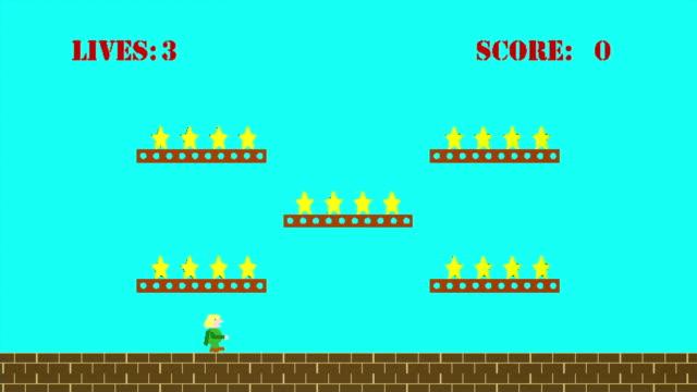 1980s Platform Game video