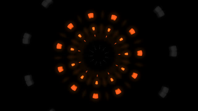 1980s style circular tunnel in 3d in fluorescent colors - развлекательные игры стоковые видео и кадры b-roll