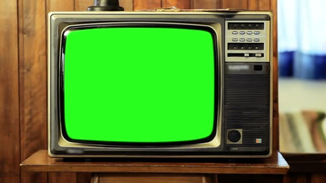 1980s Television With Green Screen. video