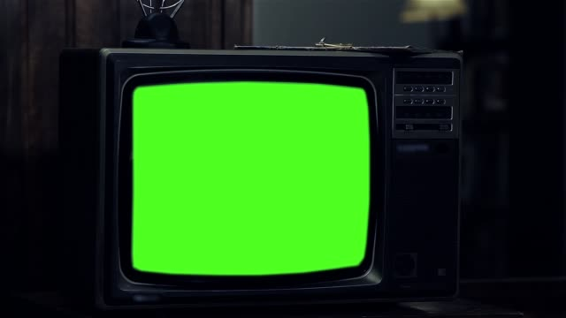 "1980s Television With Green Screen. 1980s Television With Green Screen. Ready to Replace Green Screen with any Footage or Picture you Want. You can do it with ""Keying"" (Chroma Key) effect in Adobe After Effects or other Video Editing Software. the past stock videos & royalty-free footage"