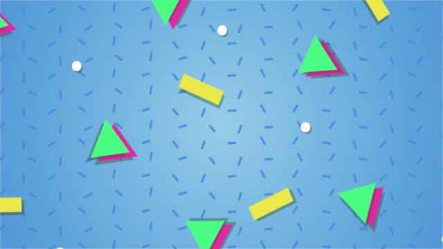 1990s style animated background pattern - luce vivida video stock e b–roll
