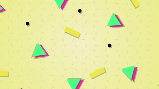 1990s Style Animated Background Pattern video
