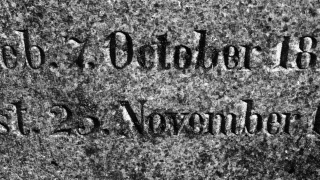 19th century German tombstone