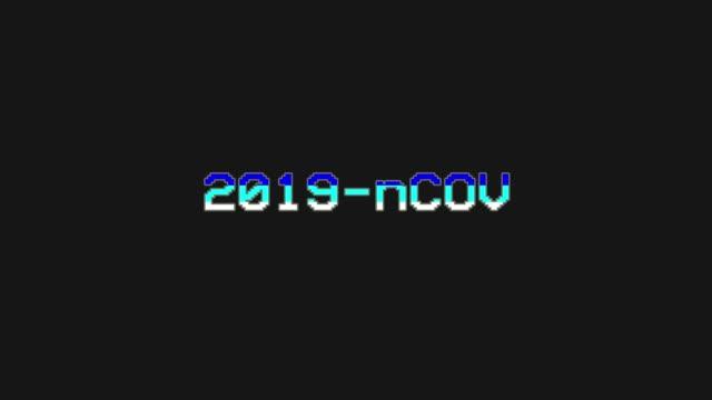 2019-nCOV - Video Game Menu Glitch and Retro Concept - stock video