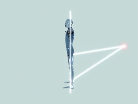 21 st century l'uomo vitruviano - rappresentazione umana video stock e b–roll