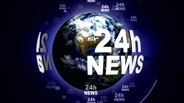 stockvideo's en b-roll-footage met 24u nieuws tekstanimatie over de hele wereld, rendering, achtergrond, lus - magazine mockup