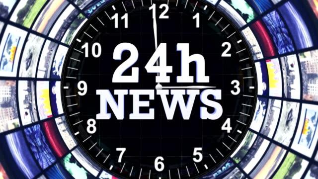 24h nyheter textanimering i bildskärmar tunneln, slinga - paper mass bildbanksvideor och videomaterial från bakom kulisserna