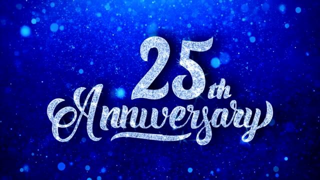 vídeos de stock, filmes e b-roll de aniversário de 25 anos - data especial