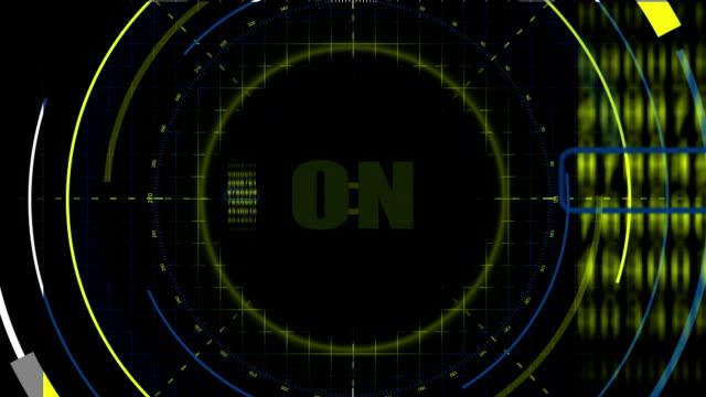 vídeos de stock, filmes e b-roll de 2 d scifi hud tela. guizmo dados - pin