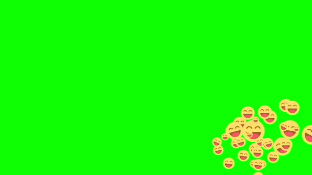 2d Smile happy symbol animated come across the green screen 2d Smile happy symbol animated come across the green screen laughing stock videos & royalty-free footage