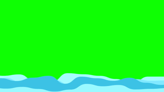 vídeos de stock e filmes b-roll de 2d wave animation filling on green screen background - encher atividade