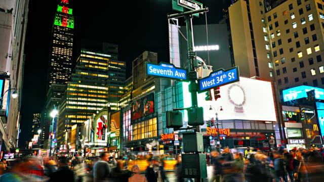 34. Straße. Empire State Building. New Yorker Nacht – Video