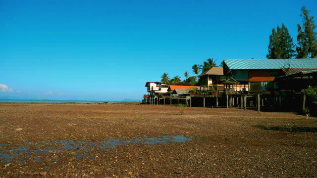 360-degree view of Over Water Stilt Houses, Old Town, Ko Lanta, Thailand video