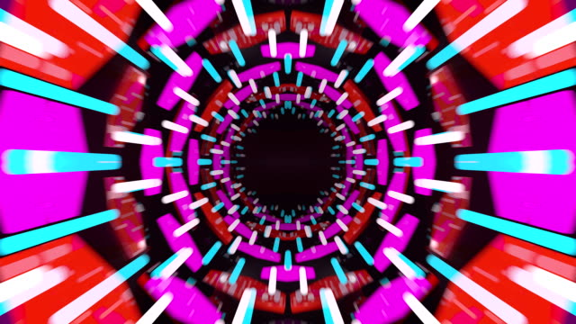 3d abstract tunnel animation video