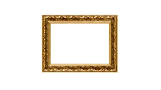 3d Animated Antique Gold Picture Frame video