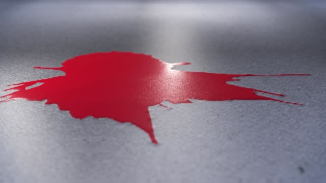 3d animation of blood or red paint on the floor video
