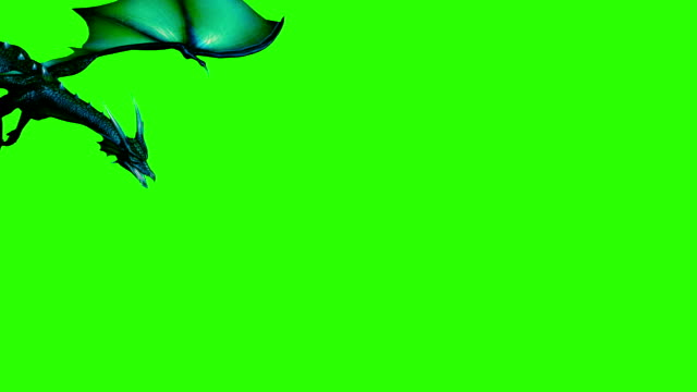 3d animation of dragon in fly - separated on green screen - dragon stock videos and b-roll footage