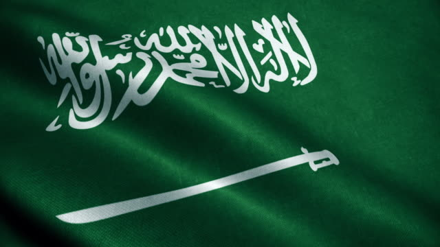 사우디 아라비아 국기의 3d 애니메이션. 현실적인 사우디 아라비아 국기 바람에 흔들며. - saudi national day 스톡 비디오 및 b-롤 화면