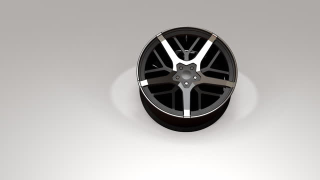 3d animation of wheels on a white background