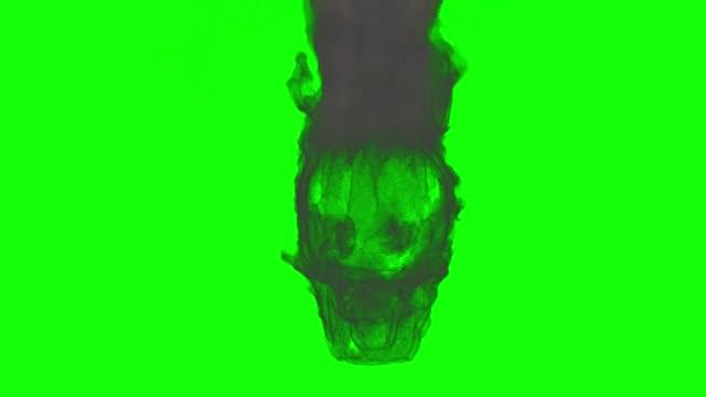 3d animation smokey skull