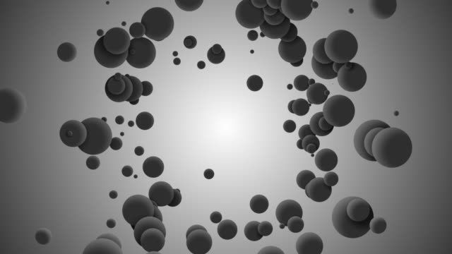 3d balls bouncing on grey background.abstract balls pattern background - sfera lucida video stock e b–roll