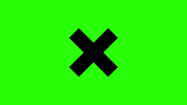 3d Black Cross sign motion with green background.Loading sign concept 3d Black Cross sign motion with green background.Loading sign concept warning sign stock videos & royalty-free footage