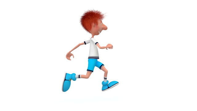 3d boy athlete. video