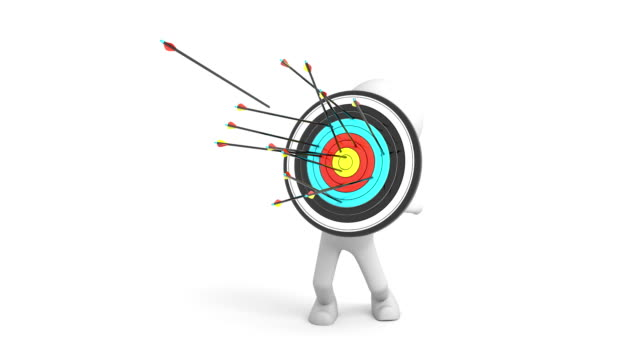 3d character as a target video
