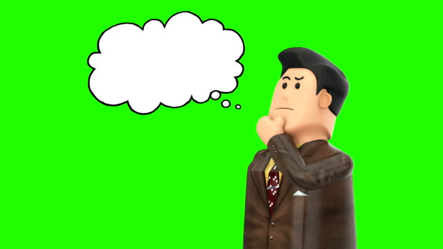 3d Character having an idea 3d Character having an idea , thinking speech bubble stock videos & royalty-free footage