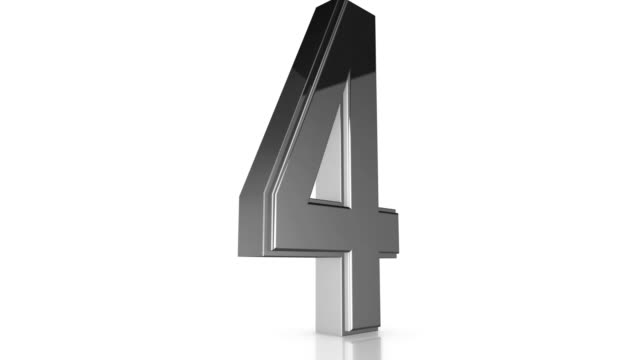 3d Chrome Number Collection - 4 video
