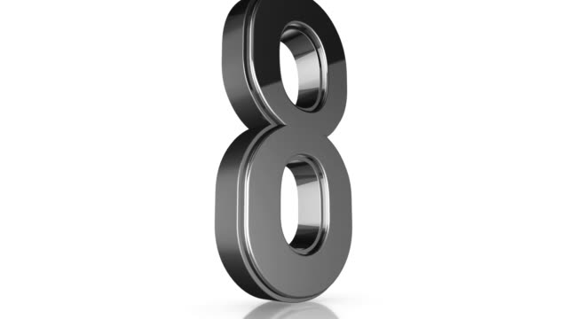 3d Chrome Number Collection - 8