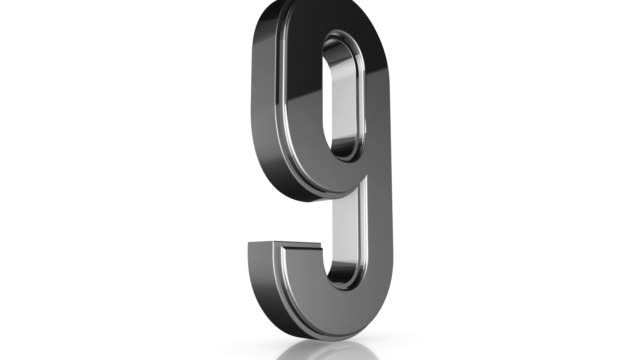 3d Chrome Number Collection - 9