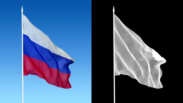 3d flag of Russia video