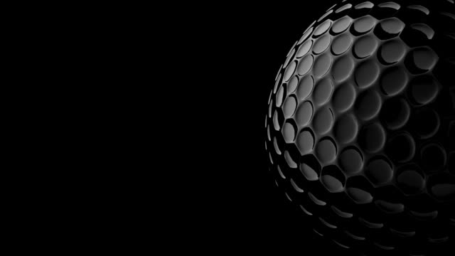 3d golf ball and include alpha channel.loopable video