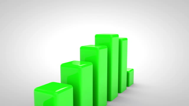 3 d wachstum diagramm - inflation stock-videos und b-roll-filmmaterial