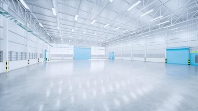 vídeos de stock e filmes b-roll de 3d hangar and concrete floor - fundo oficina